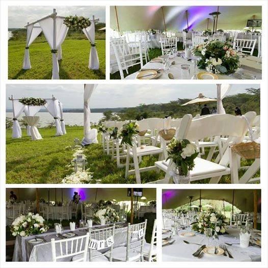 Maua moments created white wonders for this elegant Elementeita wedding.
